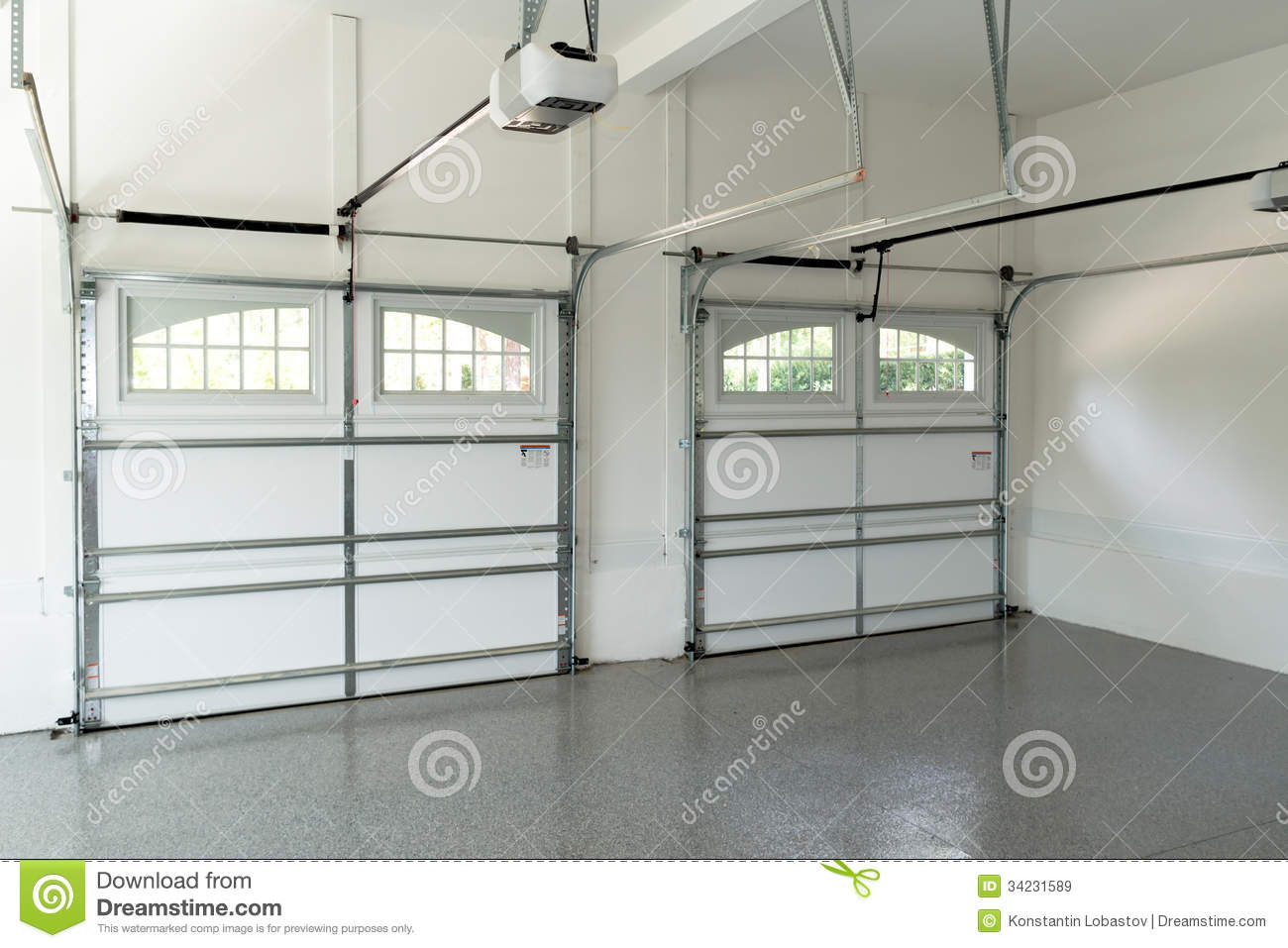 Residential House Garage Interior Royalty Free Stock