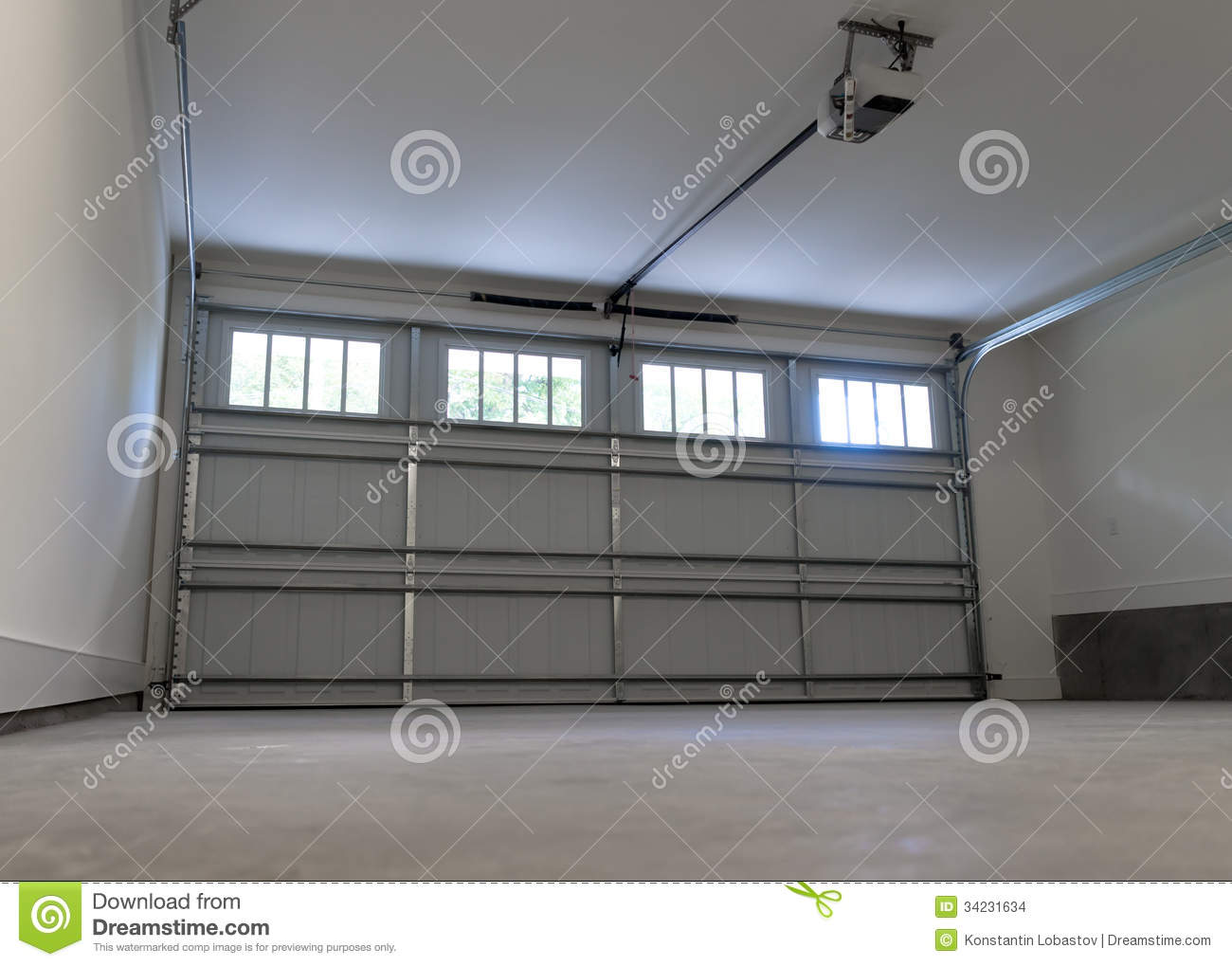 Residential House Garage Stock Images Image 34231634