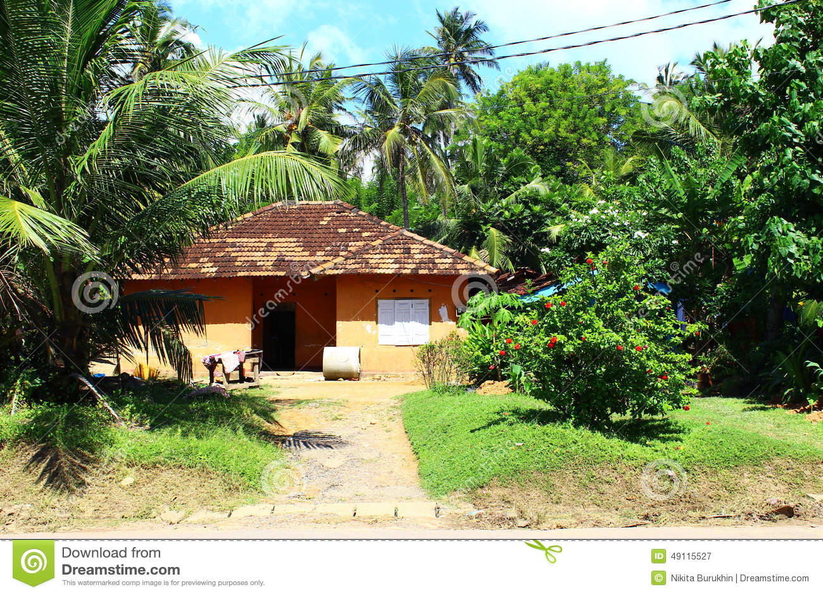 Residential house with garden sri lanka stock photo for House garden design sri lanka