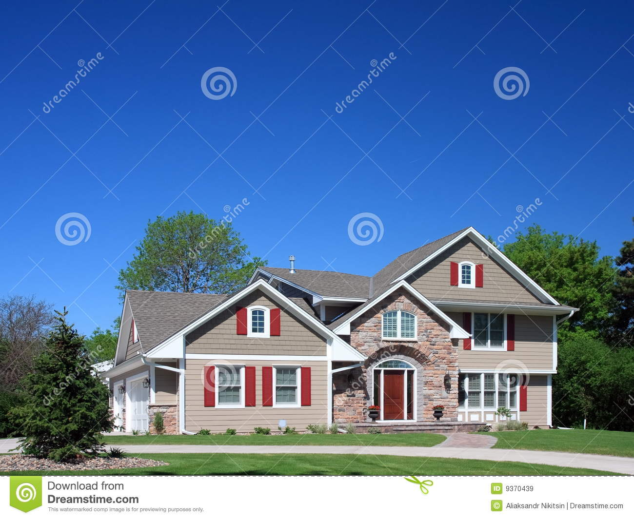 Residential House In Minneapolis Royalty Free Stock Images