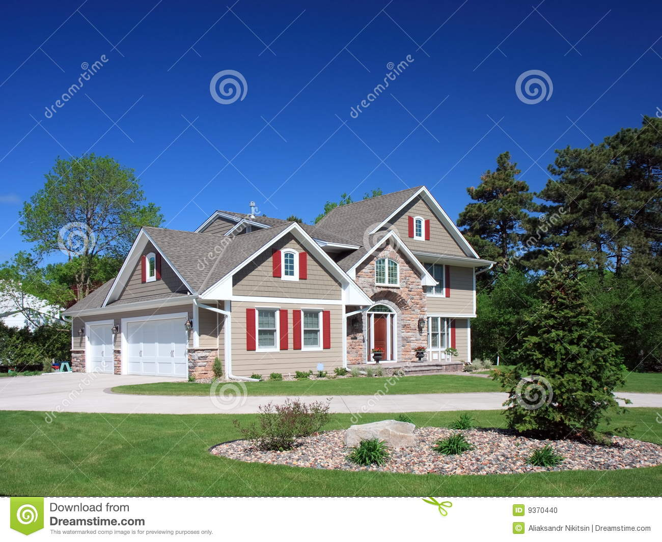 Residential House In Minneapolis Stock Photo Image 9370440