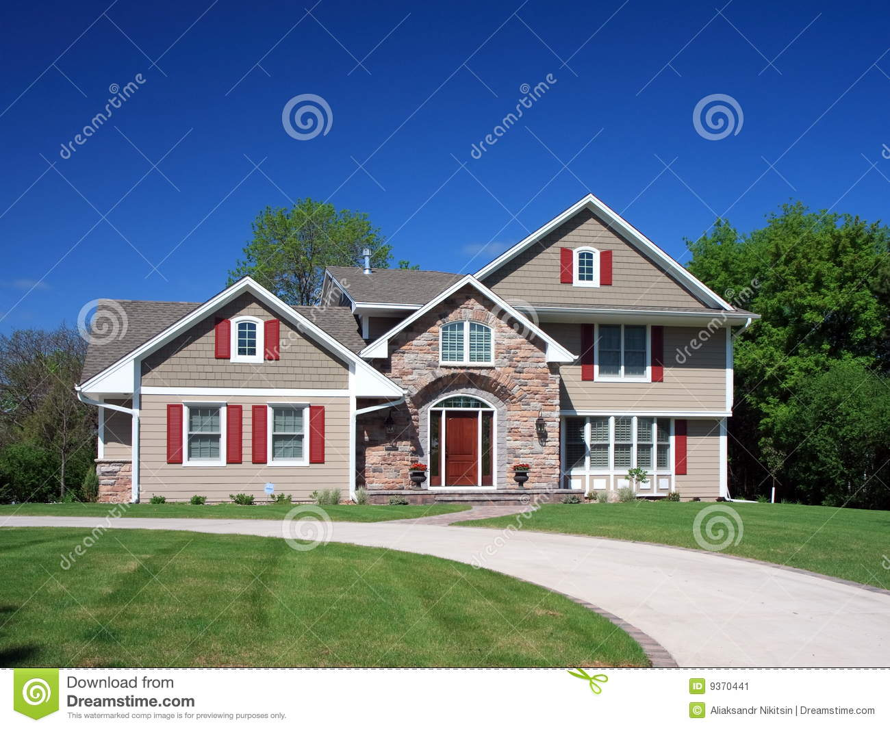 Residential House In Minneapolis Stock Image Image 9370441