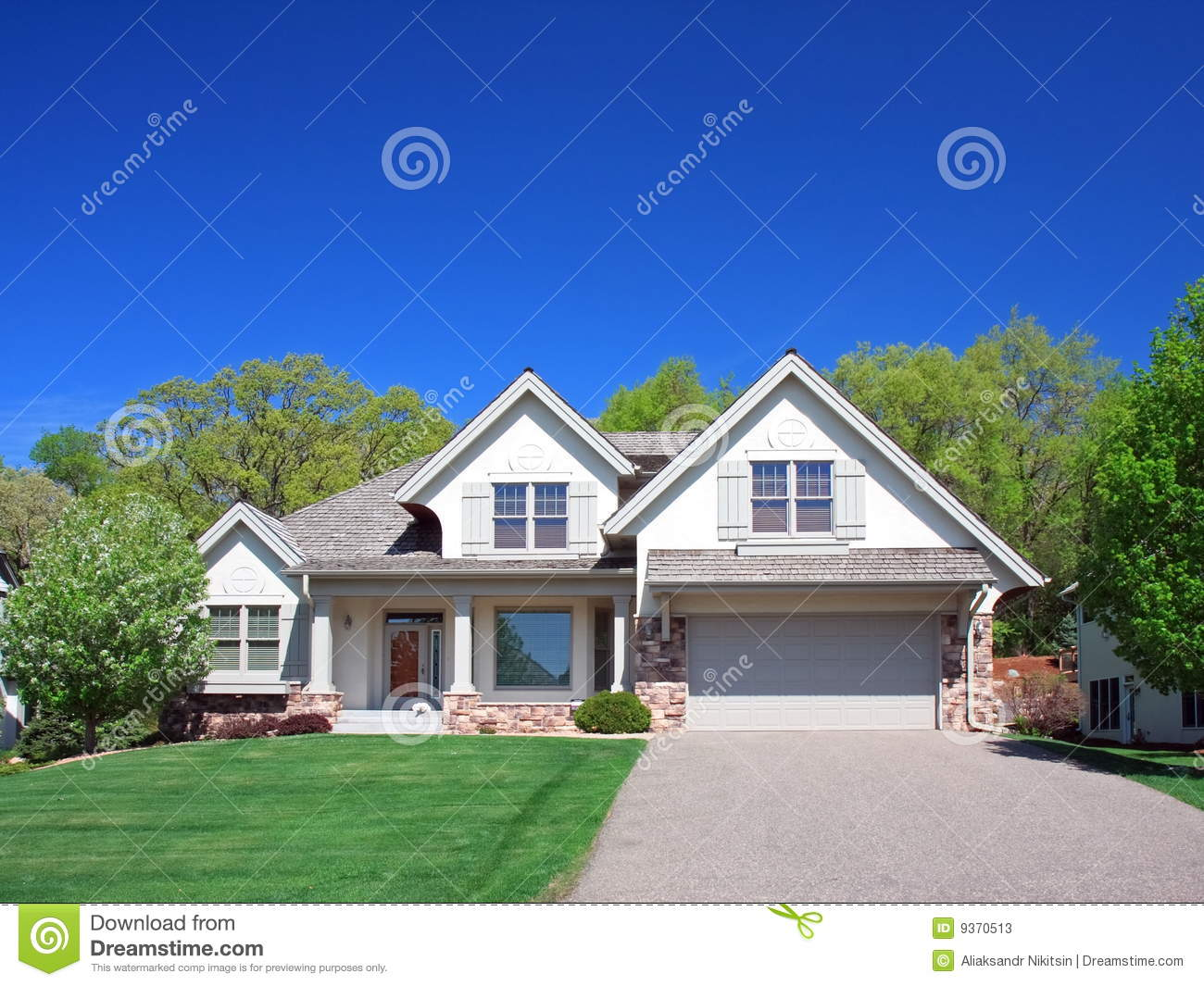Residential House In Minneapolis Stock Image Image 9370513