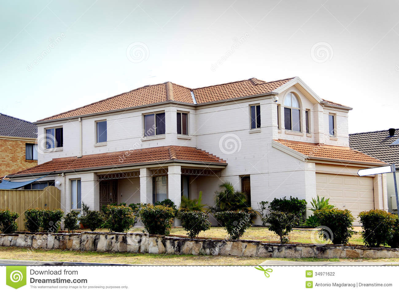 Residential house stock photography image 34971622 for Residential house pictures