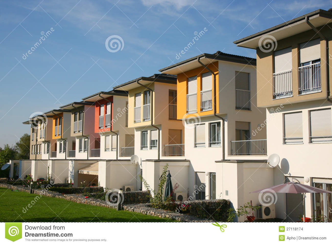Residential Houses Stock Images Image 27118174