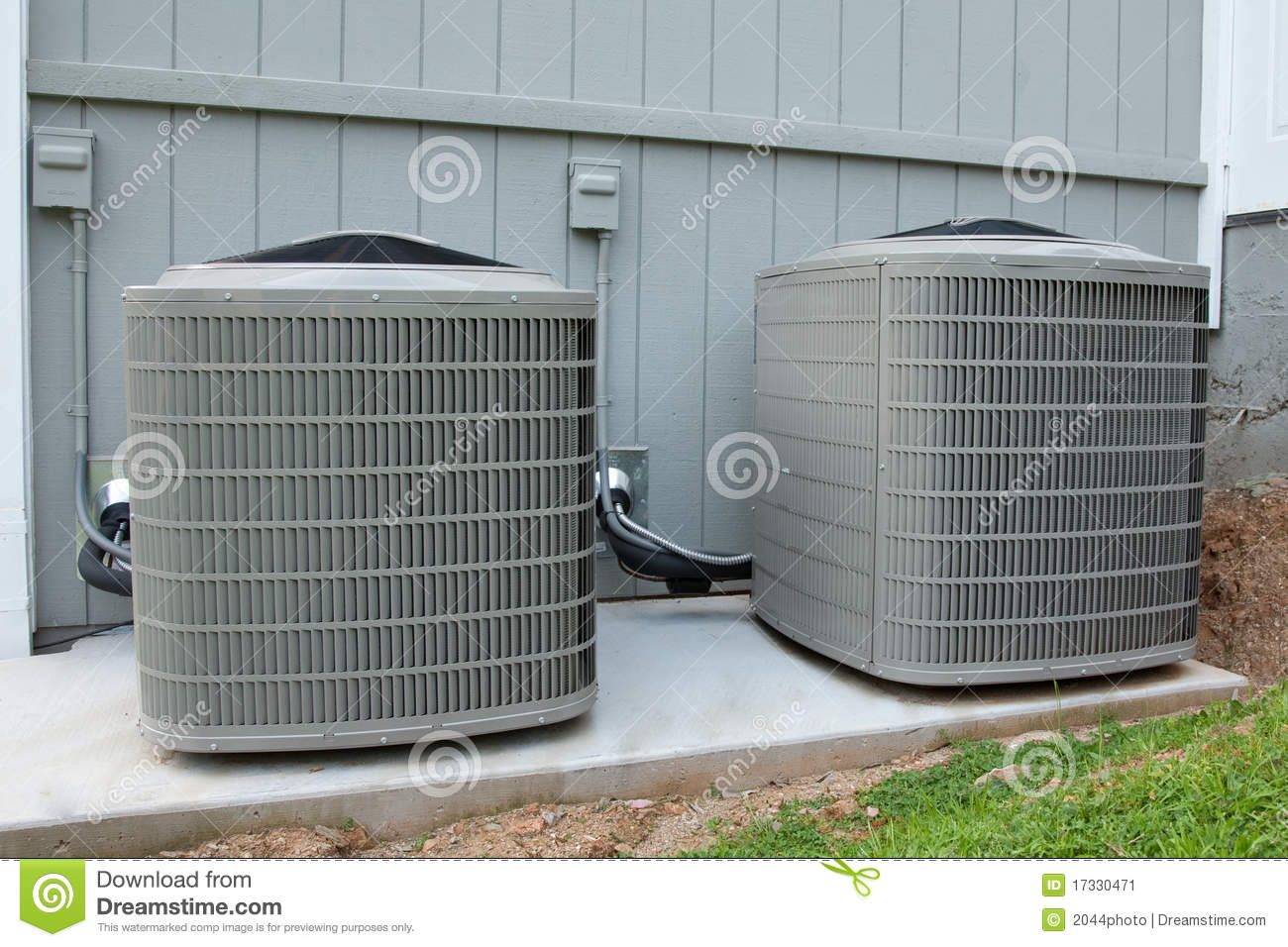Residential hvac units stock image image of hvac for Air conditioner pad concrete