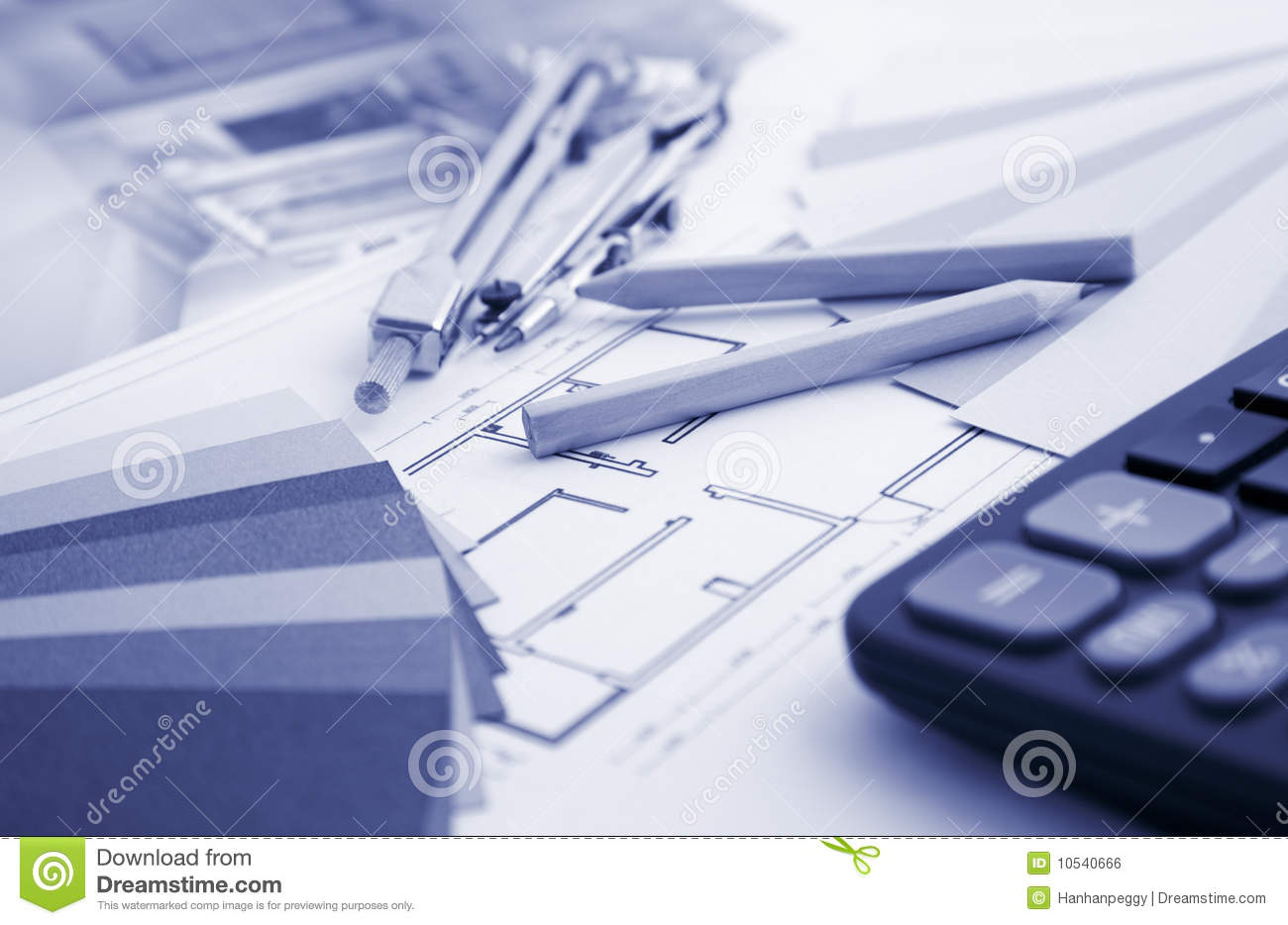 Residential Interior Design And Tools Stock Photo - Image of ...