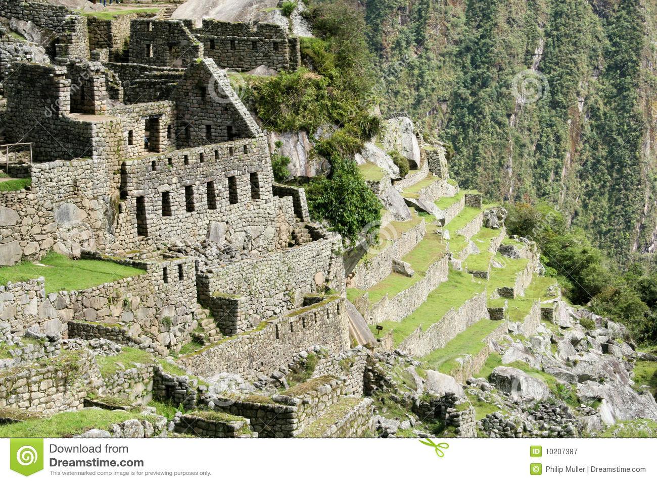 The residential sector of the City of Machu Picchu