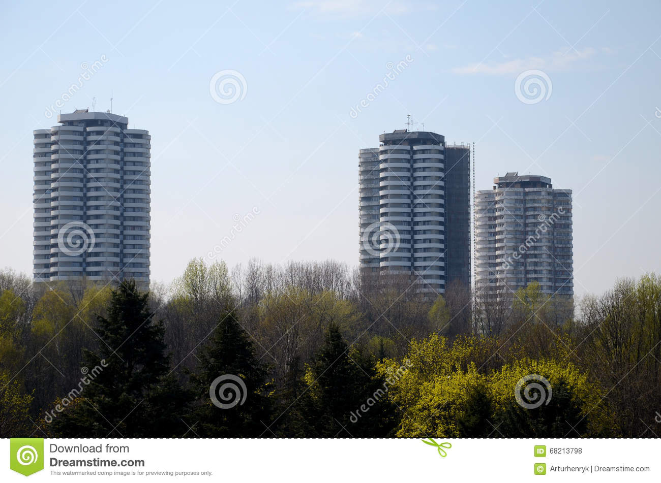 Residential skyscrapers in Katowice, Poland