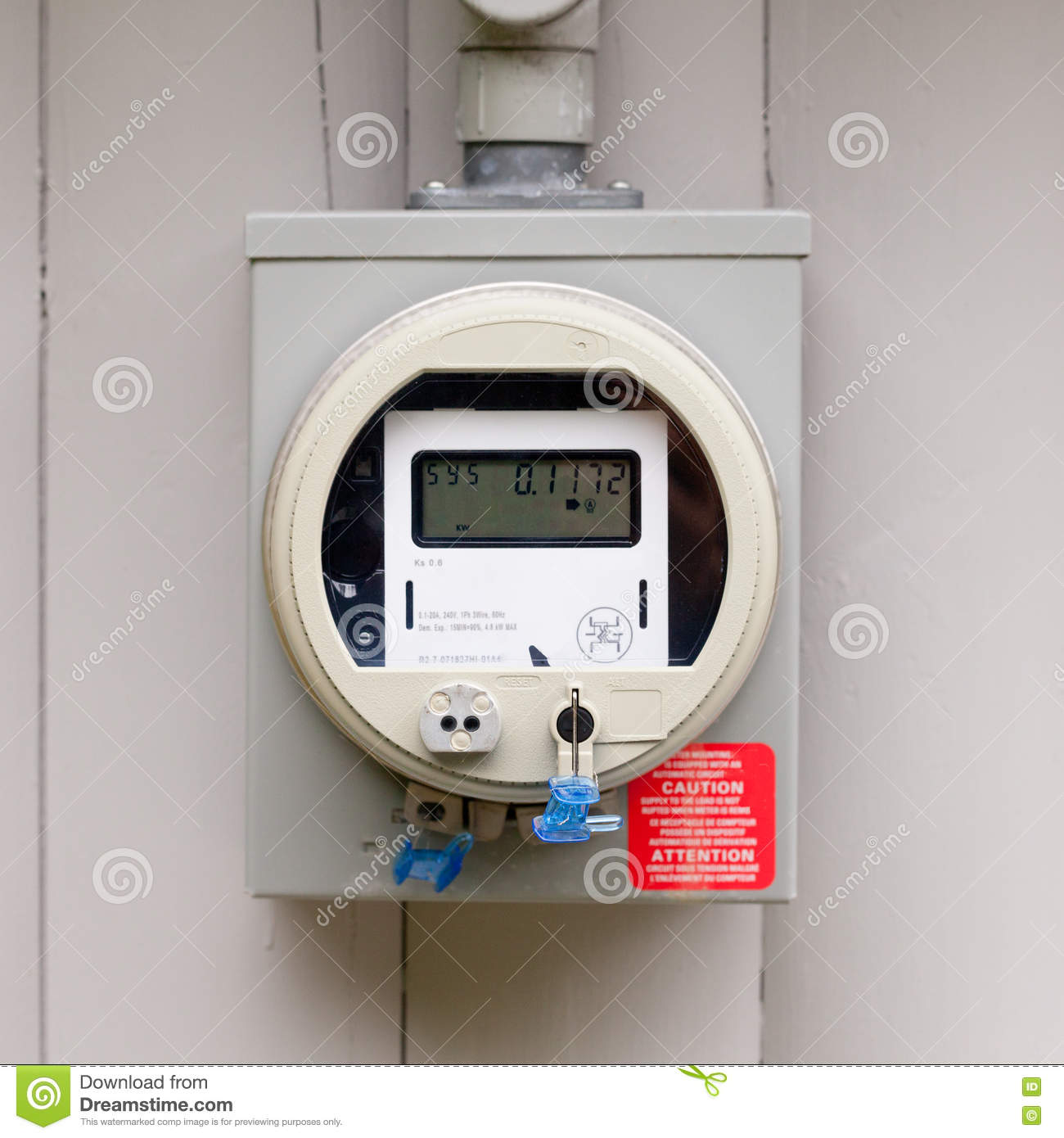 Residential Energy Meter : Residential smart grid digital power supply meter stock