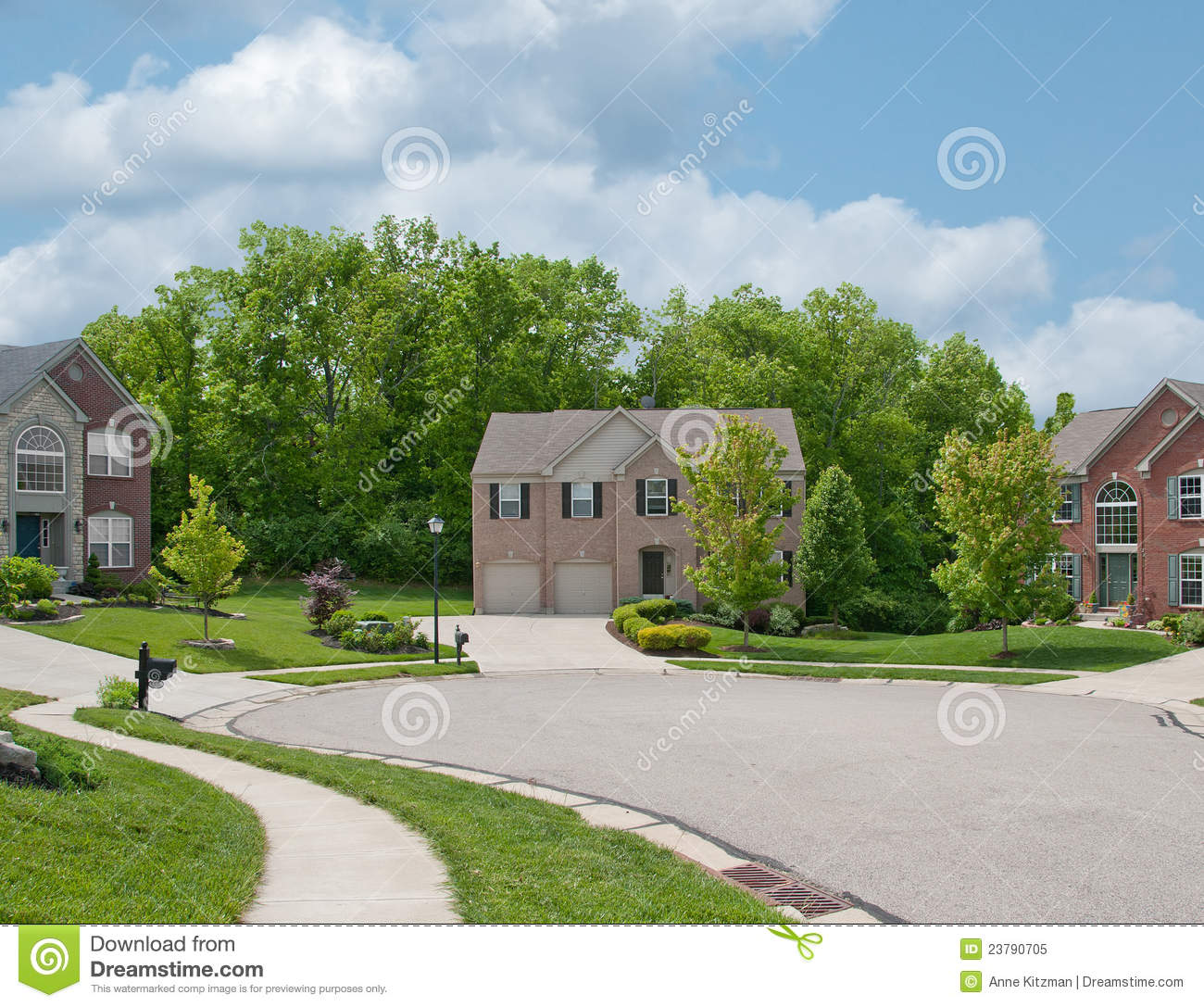 Residential suburban homes in usa stock image image for Usa home builders