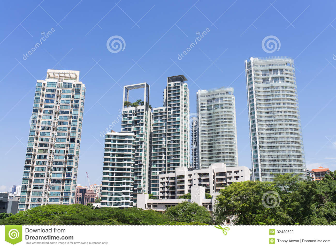 Residential tower stock photos image 32430693 Modern residential towers