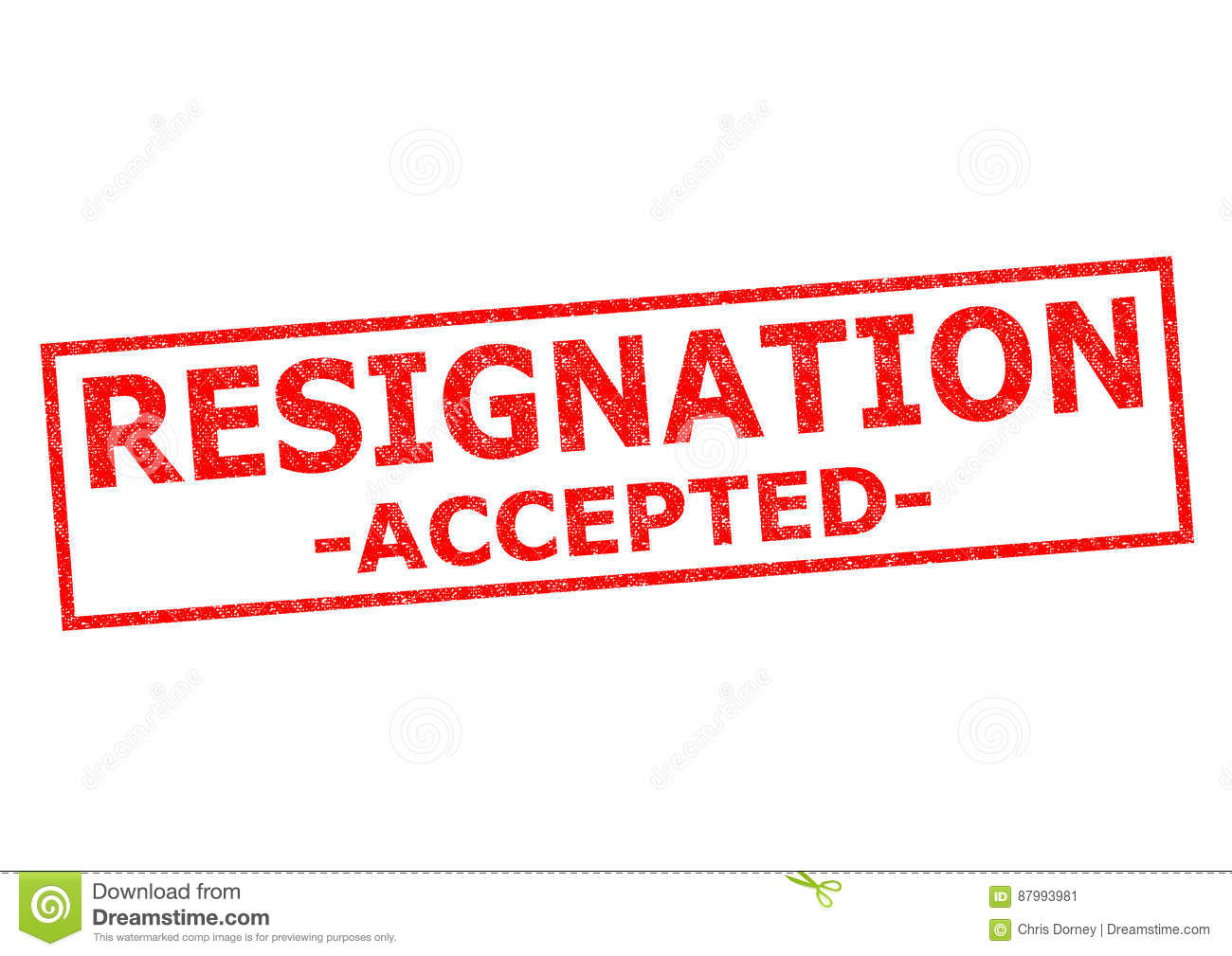RESIGNATION ACCEPTED