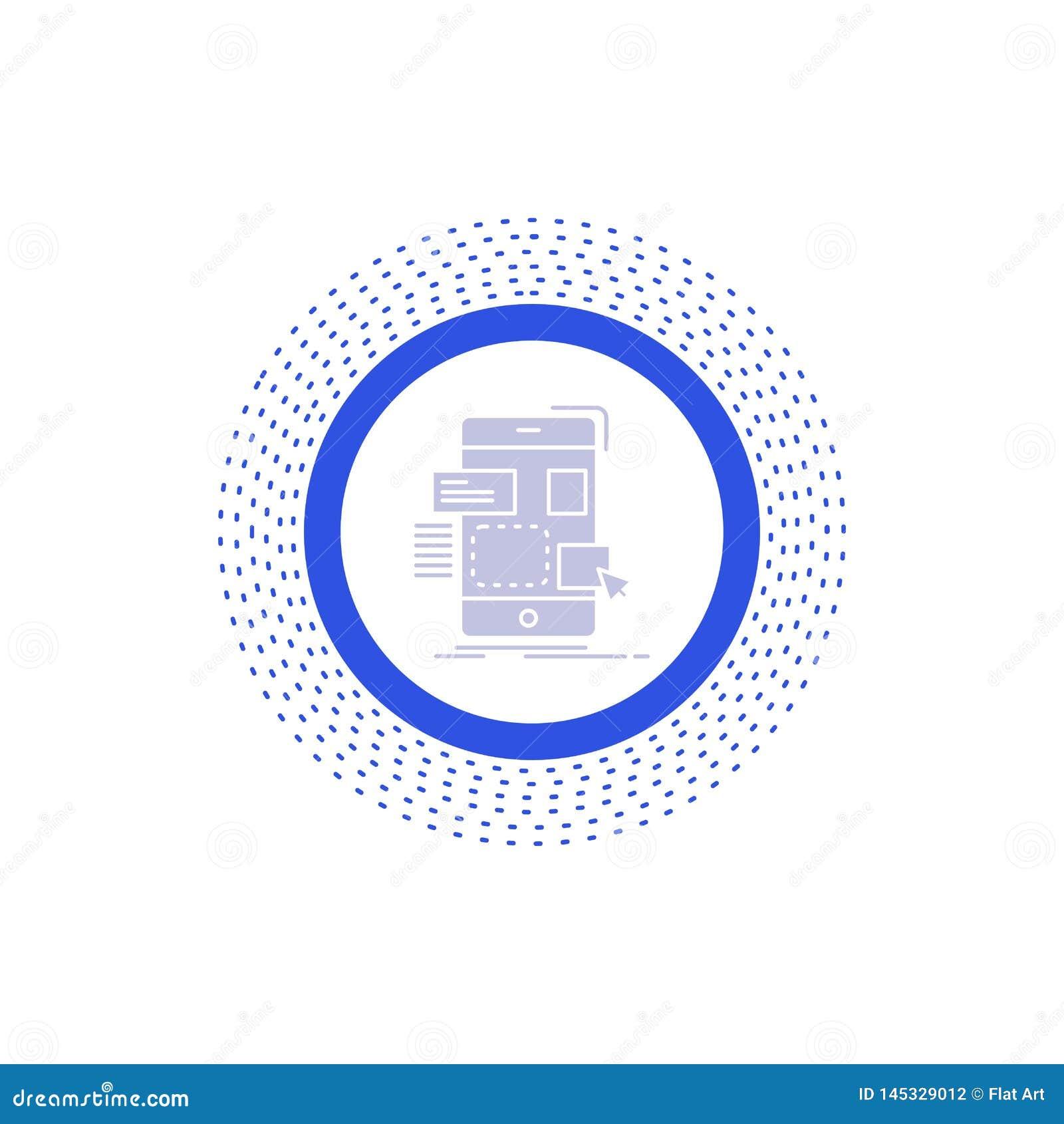 Resistenza, cellulare, progettazione, ui, icona di glifo del ux Illustrazione isolata vettore