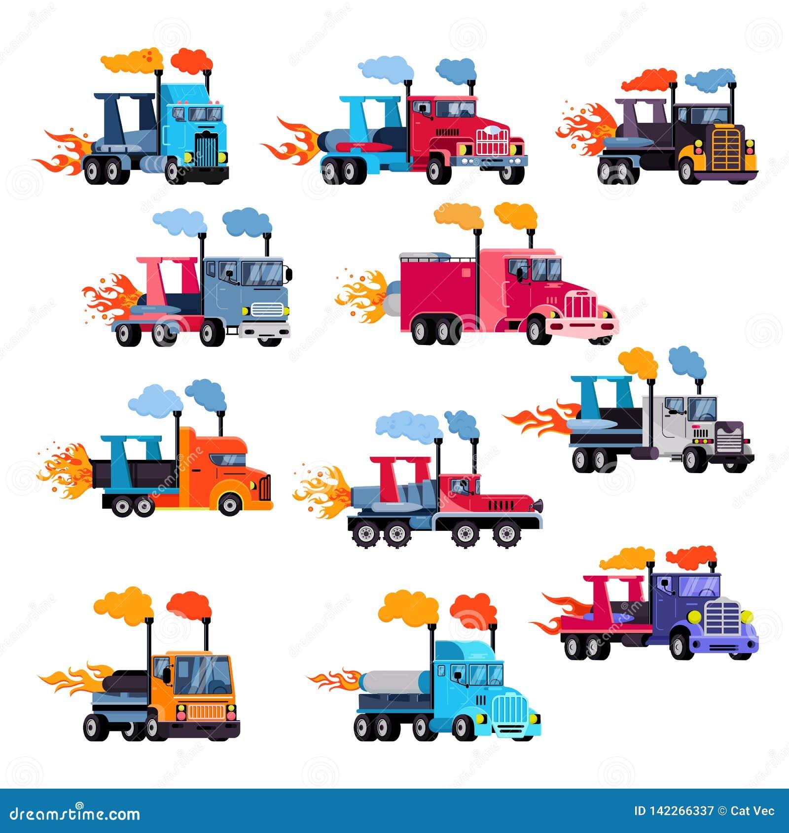 Resistenza flamy della macchina da corsa di postcombustione di vettore del camion del getto che corre sull insieme speedcar dell