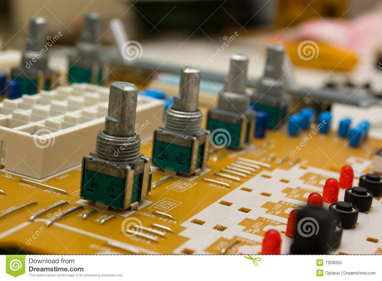 Resistor Stock Photo Image Of Inside Printed Diode 7358050 Circuit With Variable Closeup On Part Electronic Board