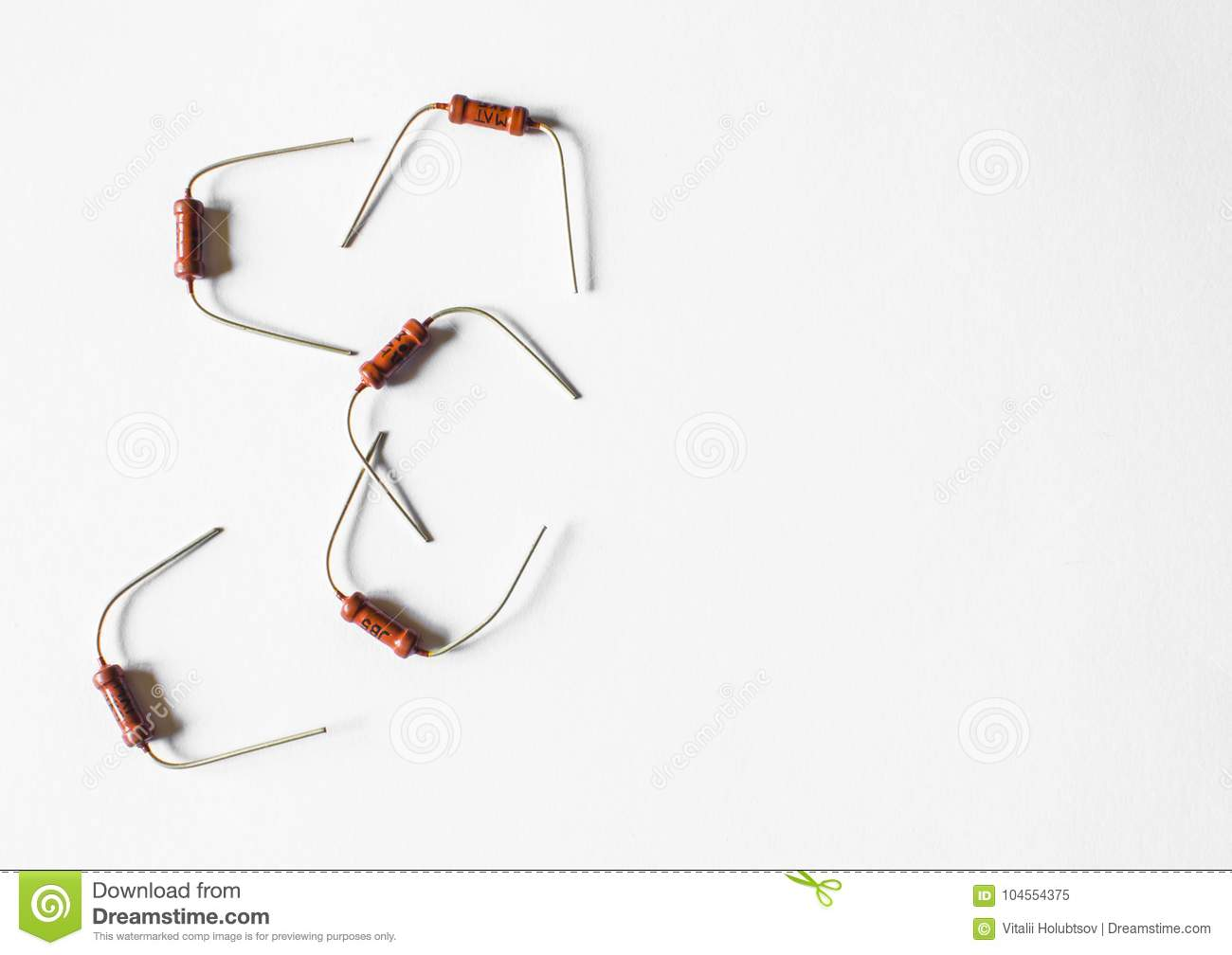 Resistor Passive Two Terminal Electrical Component For Current Flow In A Circuit Resistance To Reduce And Lower Voltage