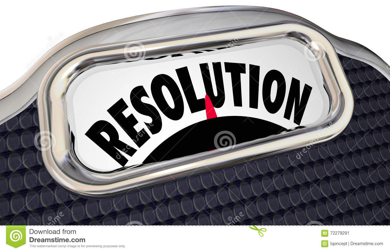 Resolution Word Scale New Year Commitment Lose Weight