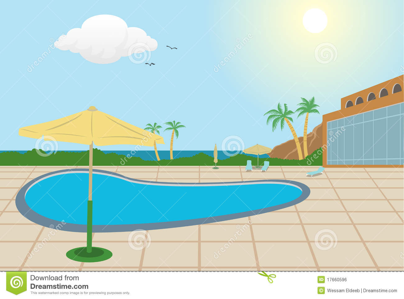 Resort Background Royalty Free Stock Image - Image: 17660596