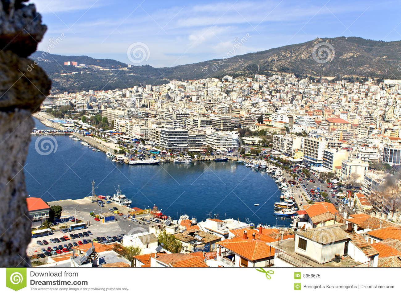 Resort city of Kavala in Greece