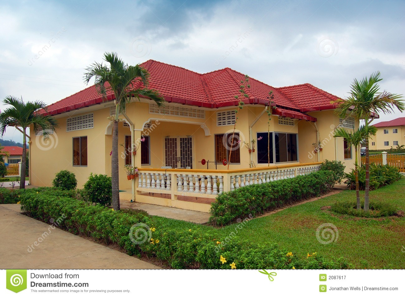 resort home in cambodia stock image image of homes