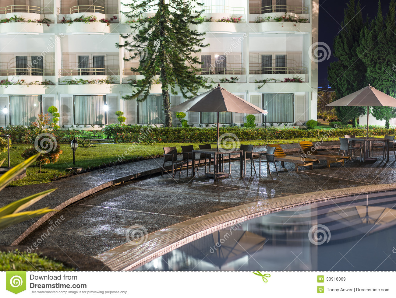 Resort hotel royalty free stock images image 30916069 - Hotel with swimming pool on balcony ...