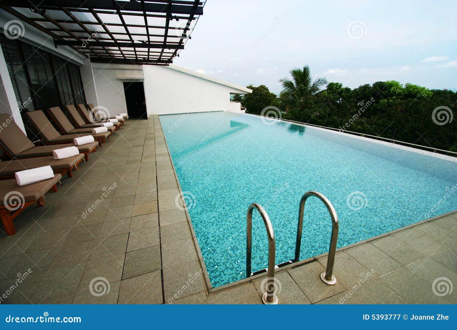 Download Resort Infinity Pool, Roof Top Stock Image - Image of hotels, exclusive: 5393777