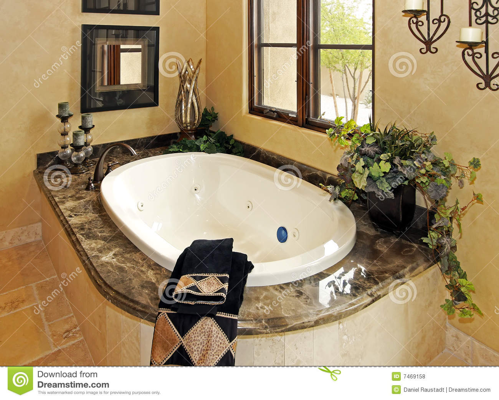 Resort mansion bathroom spa tub Royalty Free Stock Photos. Resort Mansion Bathroom Spa Royalty Free Stock Photo   Image  7469215