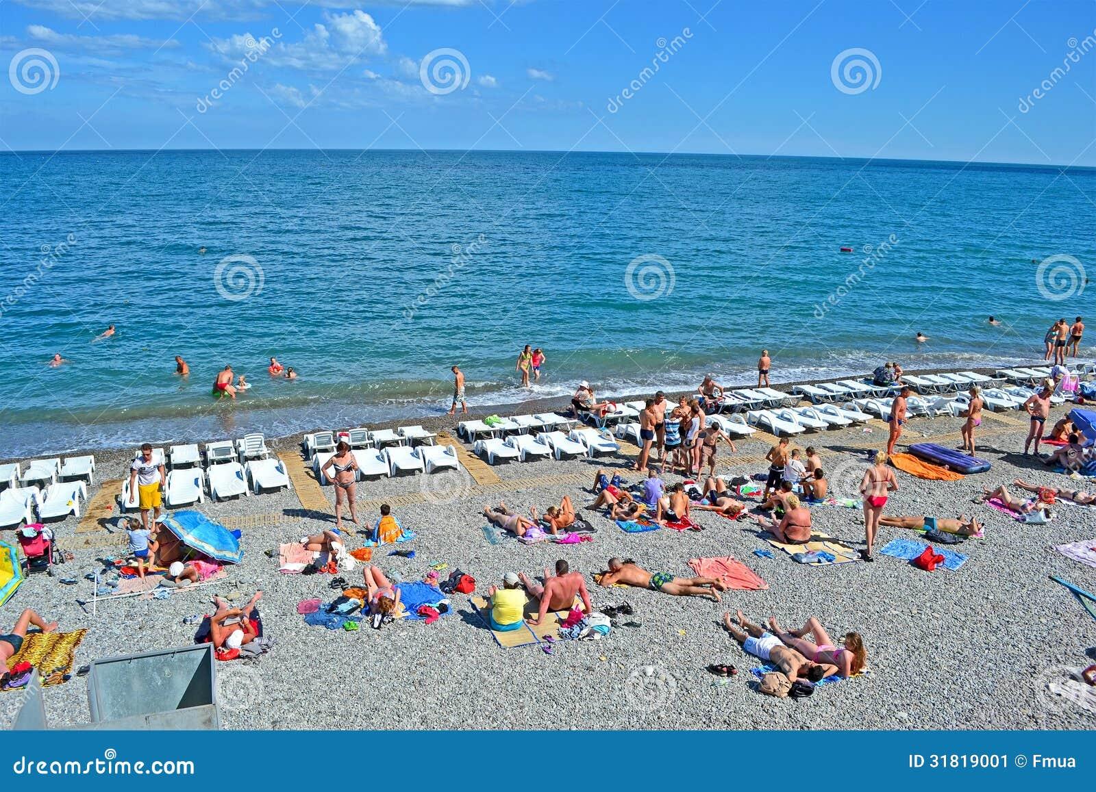 Resort People On The Public Pebble Beach Near Bla