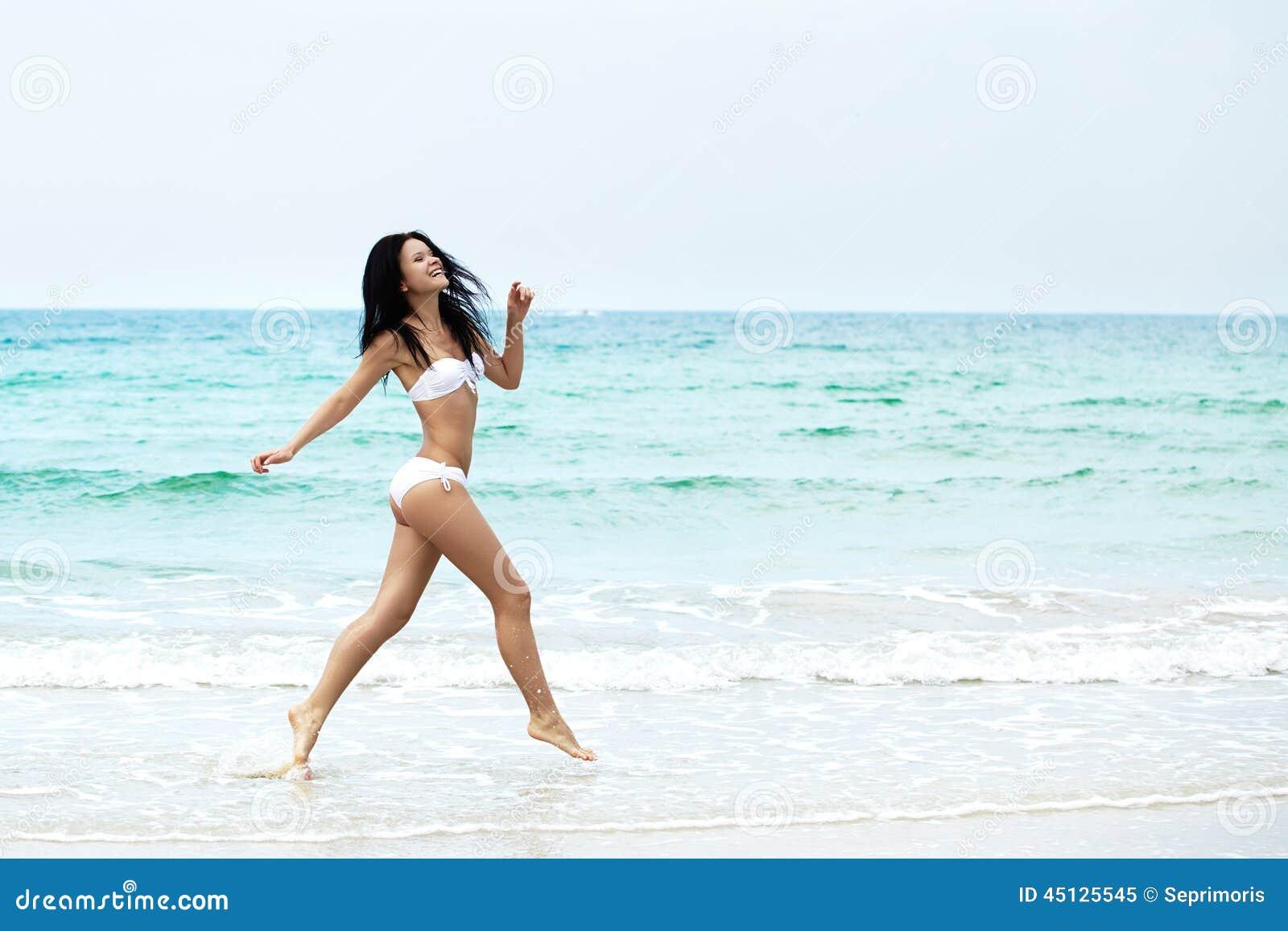 Naked asian women in shower