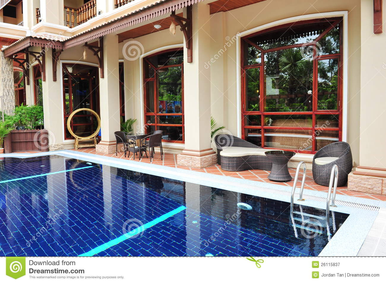 Resort swimming pool and dining area royalty free stock photography image 26115837 - Pool dining ...