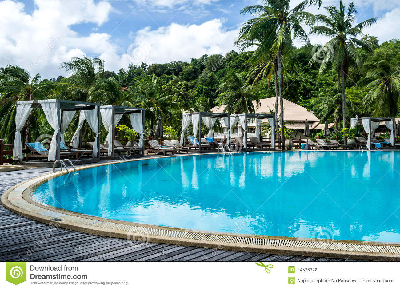 Resort Swimming Pool Phuket Thailand Stock Photo Image