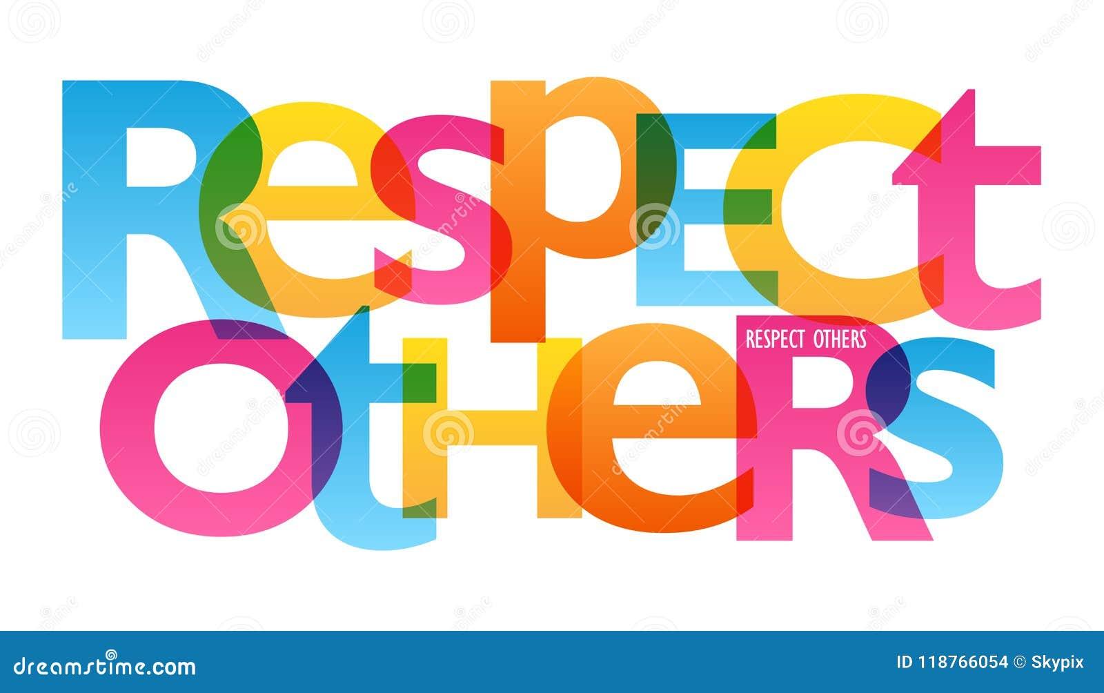 RESPECT D AUTRES affiche de typographie