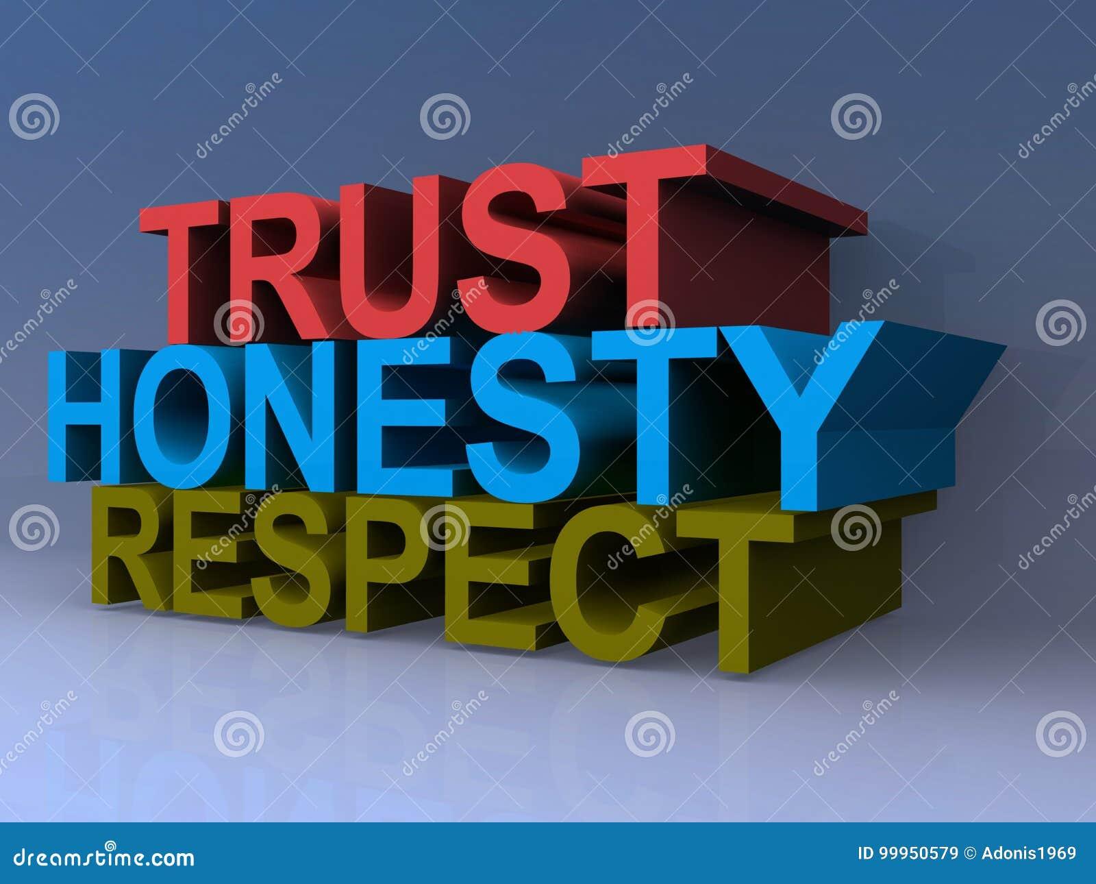 Respeito da honestidade da confiança