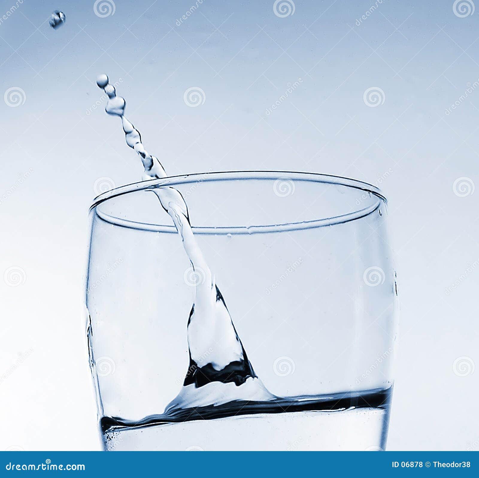 Respingo da água no vidro