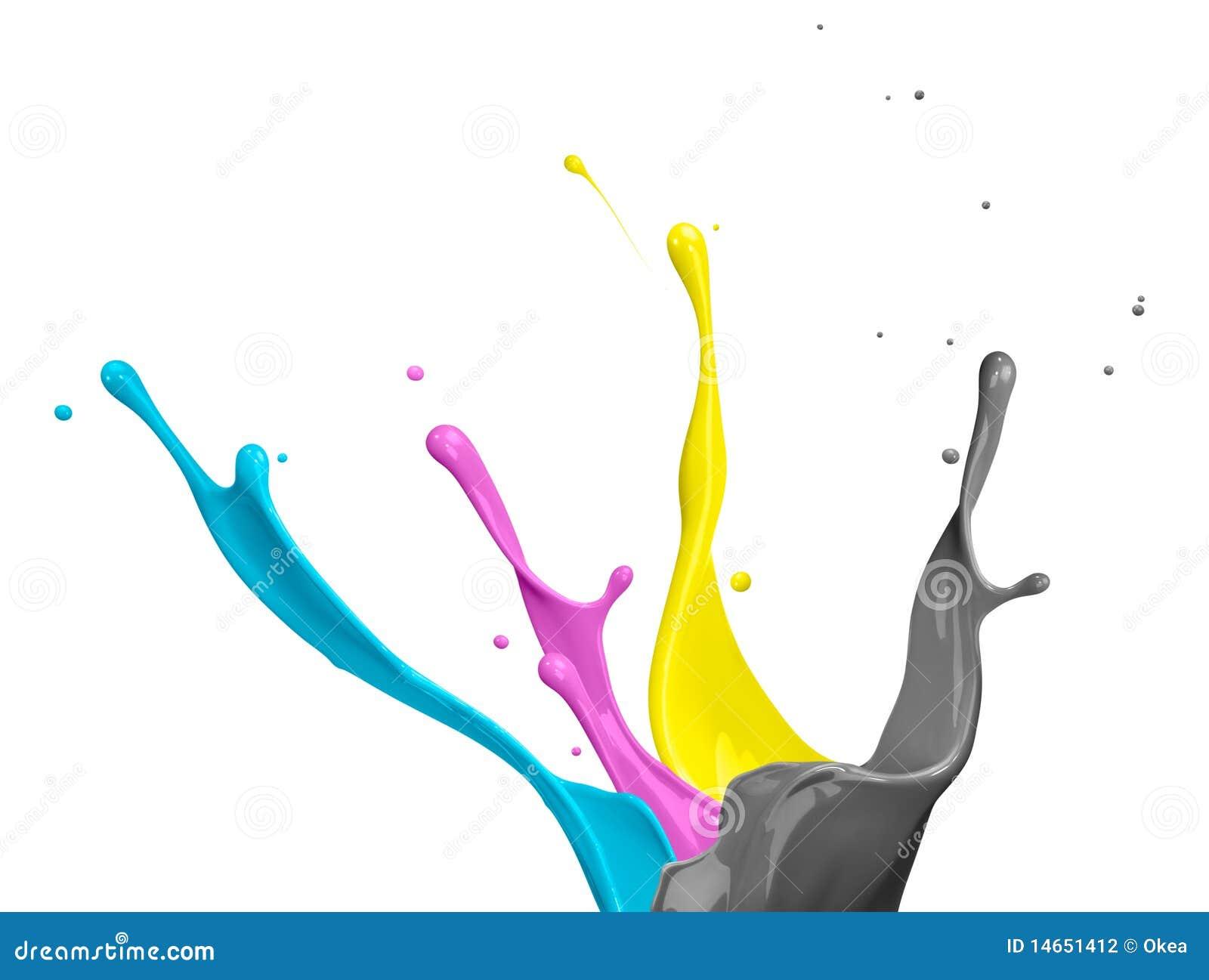 Respingo da pintura de CMYK