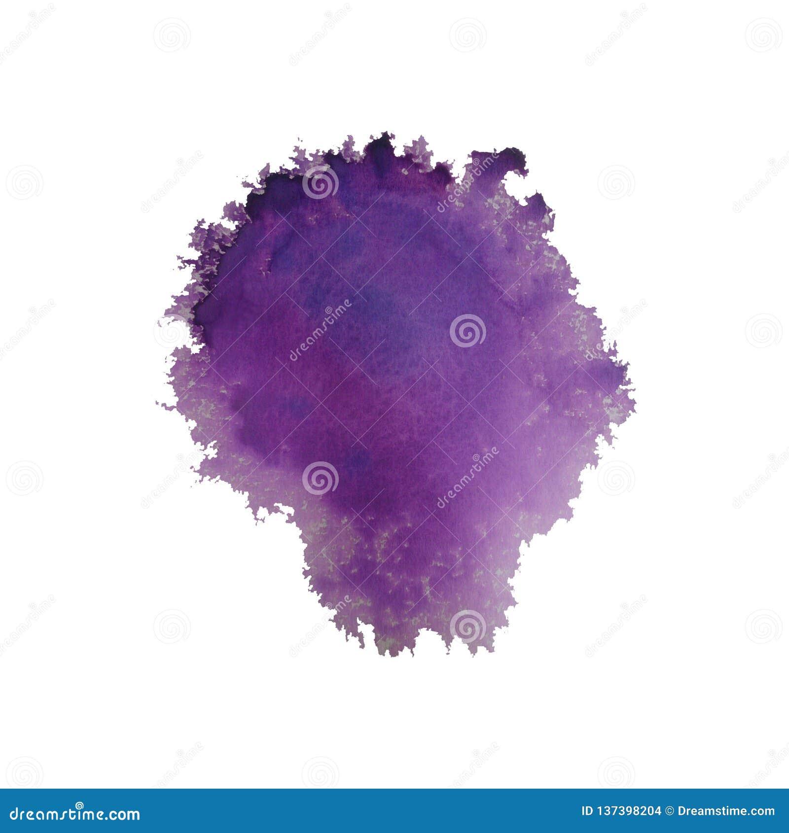 Respingo violeta brilhante colorido do inclinação da aquarela