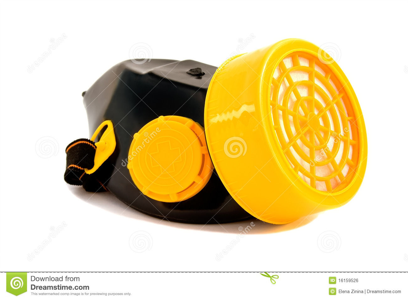 Respirator isolated on a white background
