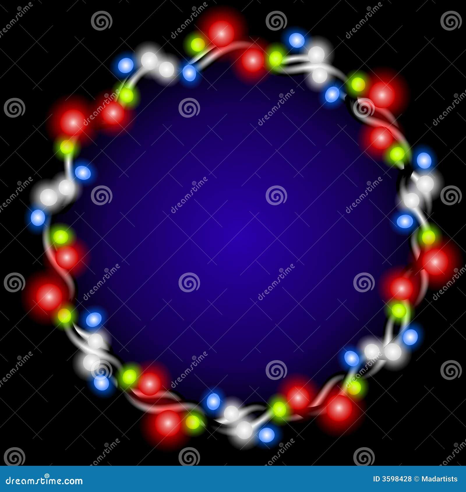 Resplandor de la guirnalda de las luces de la Navidad