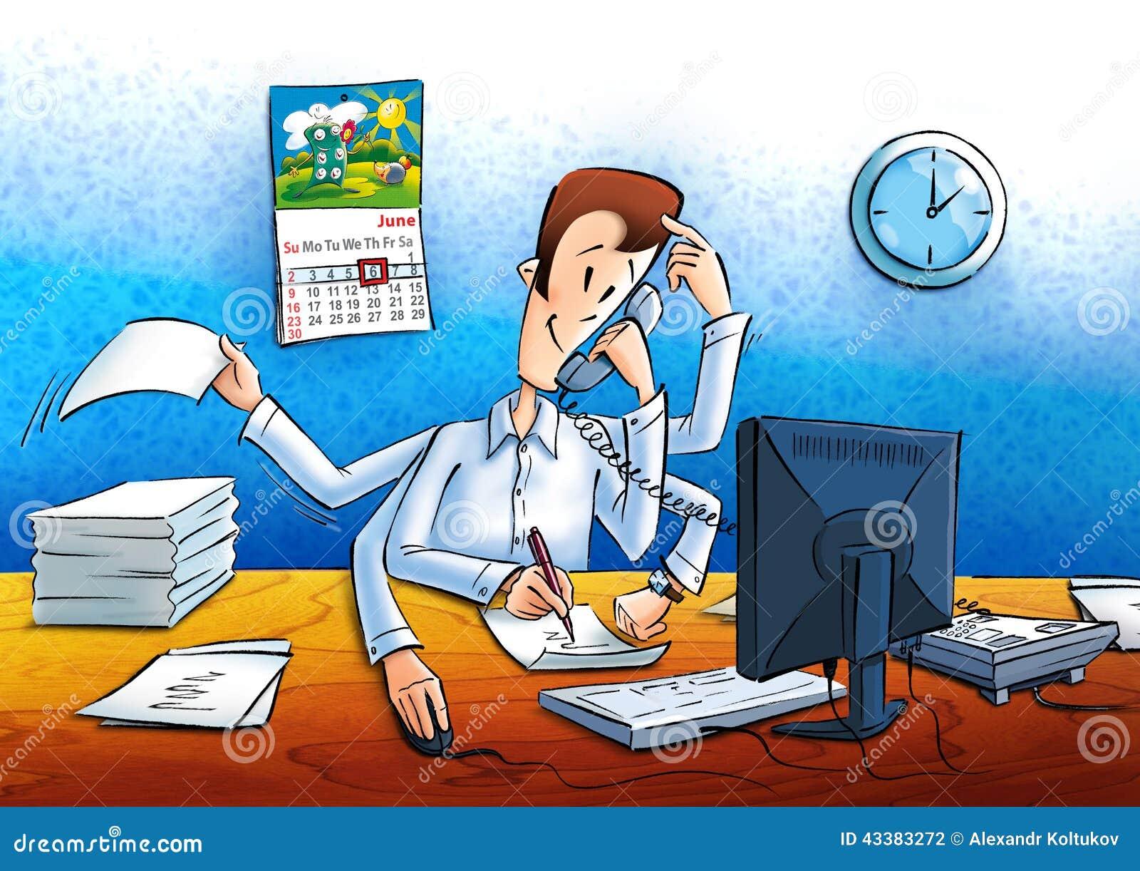 Responsabile Sul Lavoro Nell 39 Ufficio Illustrazione Di