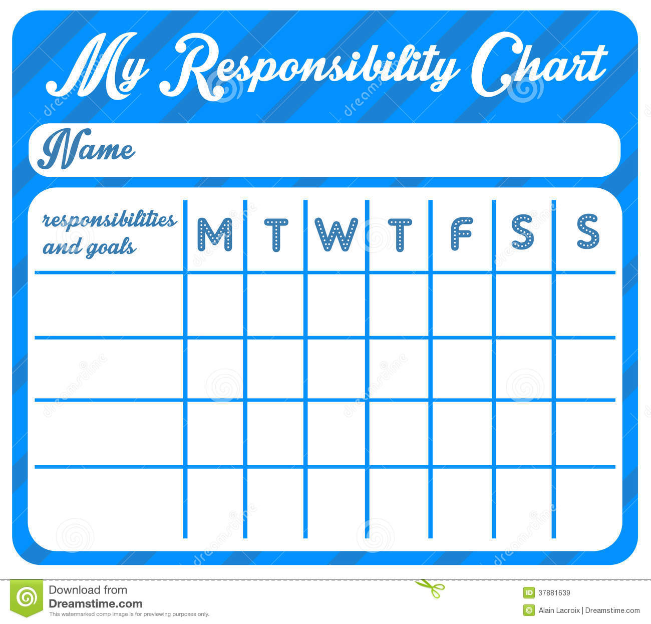 Responsibility Chart Royalty Free Stock Images Image