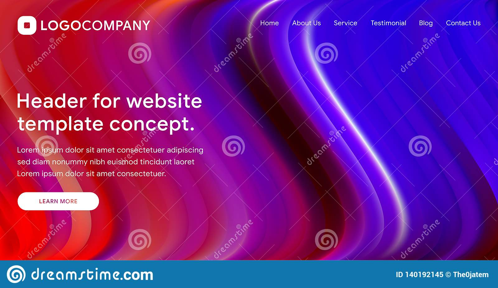 Responsive Landing Page Or Web Template Design With 3D