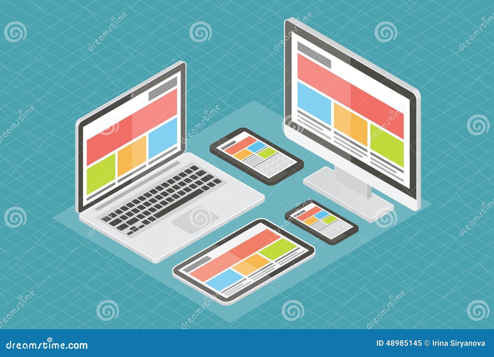 Responsive web design, computer equipment, 3d