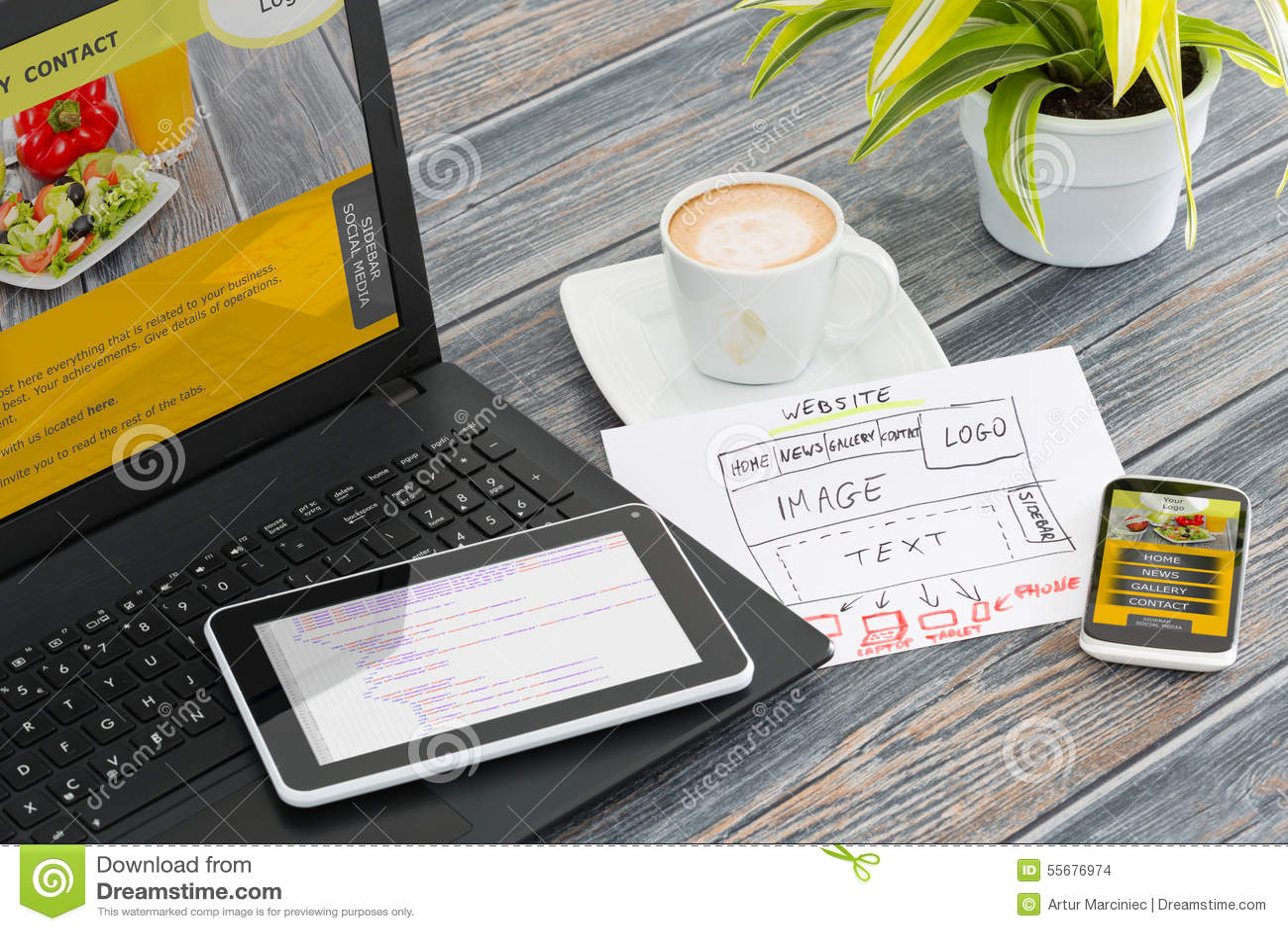 Responsive web design stock photo. Image of ideas ...