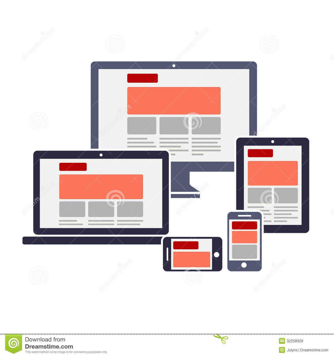 Responsive Web Design Royalty Free Stock Images - Image: 32258929