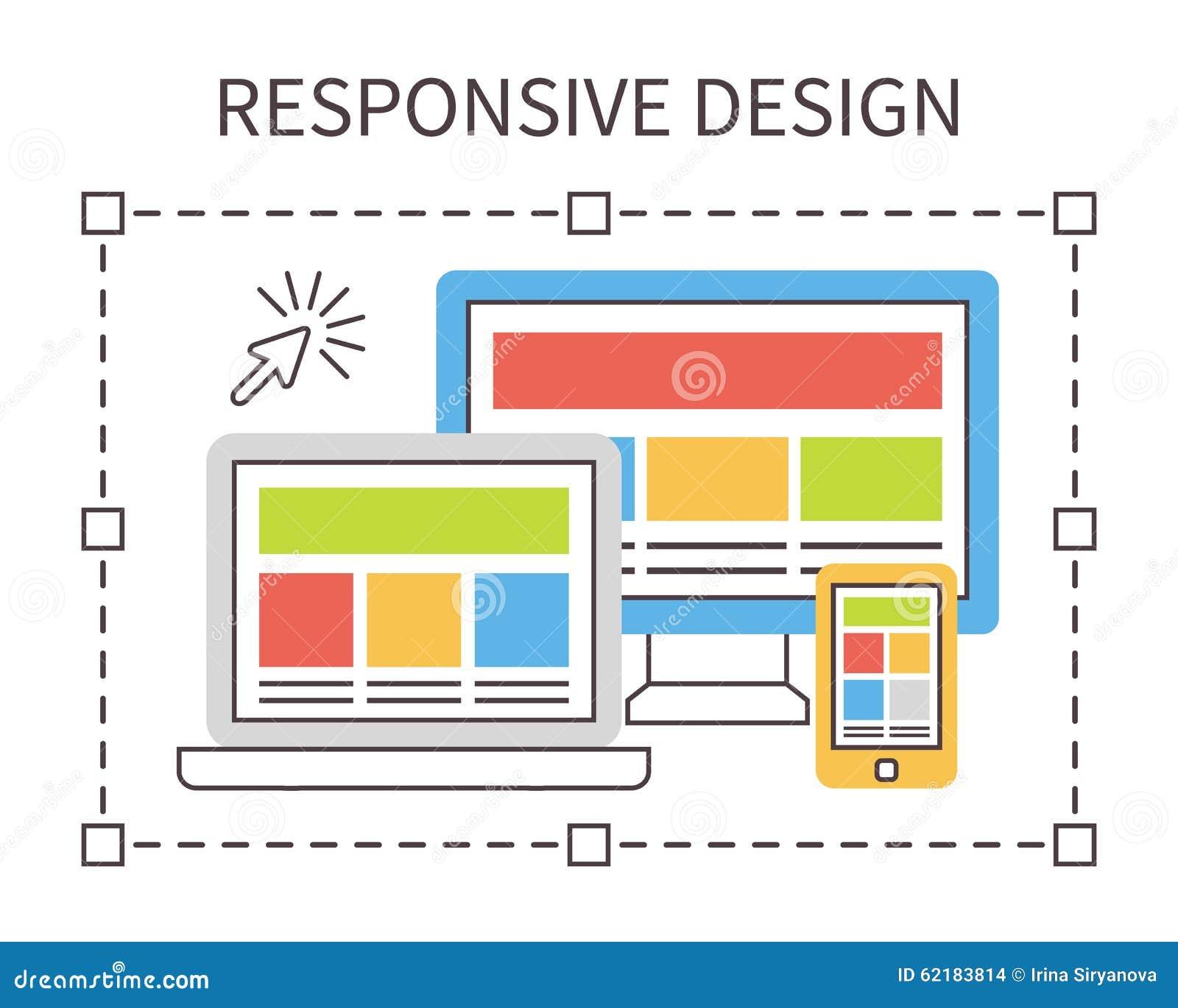 Responsive web design, flat vector