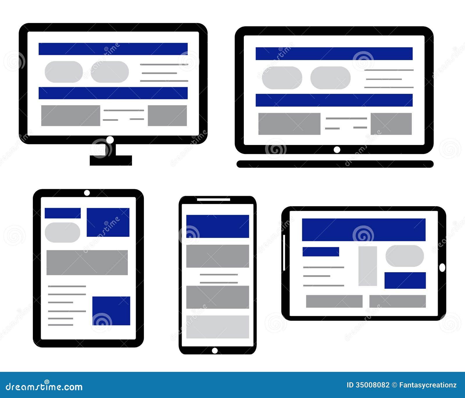 Responsive Web Design Stock Photography Image 35008082