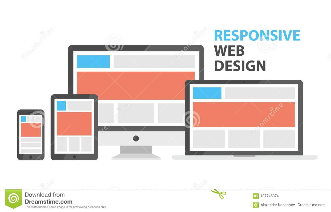 Responsive Web Design Stock Vector Illustration Of Business 107746374
