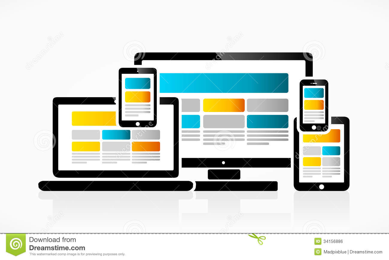 Responsive Web Design Royalty Free Stock Image - Image: 34156886: www.dreamstime.com/royalty-free-stock-image-responsive-web-design...