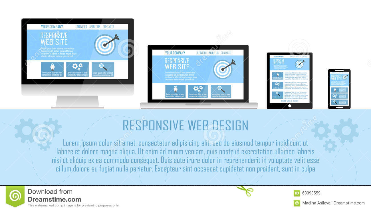 Responsive Design Concept On A Laptop Royalty-Free Stock ...